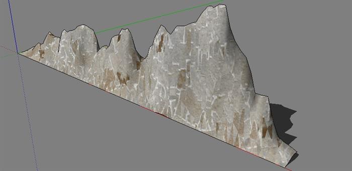 墙壁景观石头设计su模型