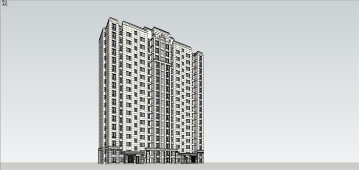 古典风格住宅su精细模型帅(4)