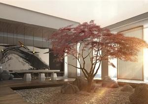 中式庭院效果图设计全套3D模型