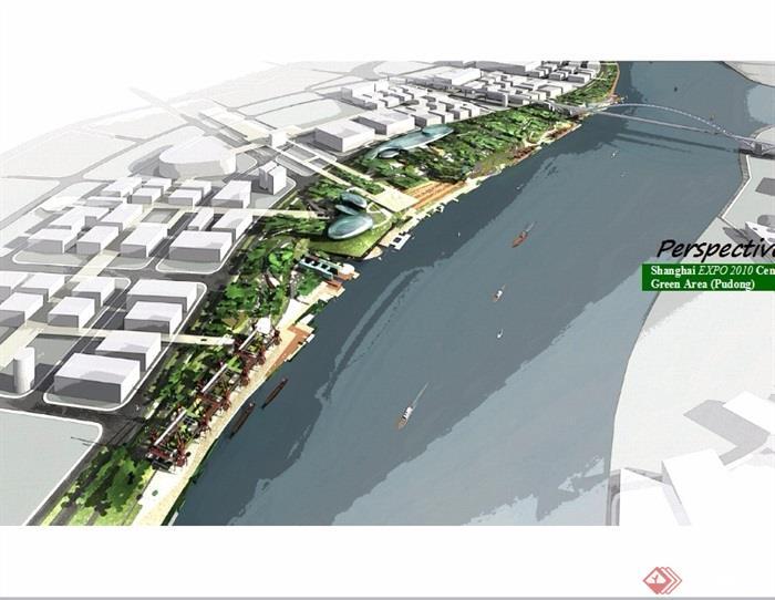 某现代风格滨河公园景观设计ppt方案[原创]图片
