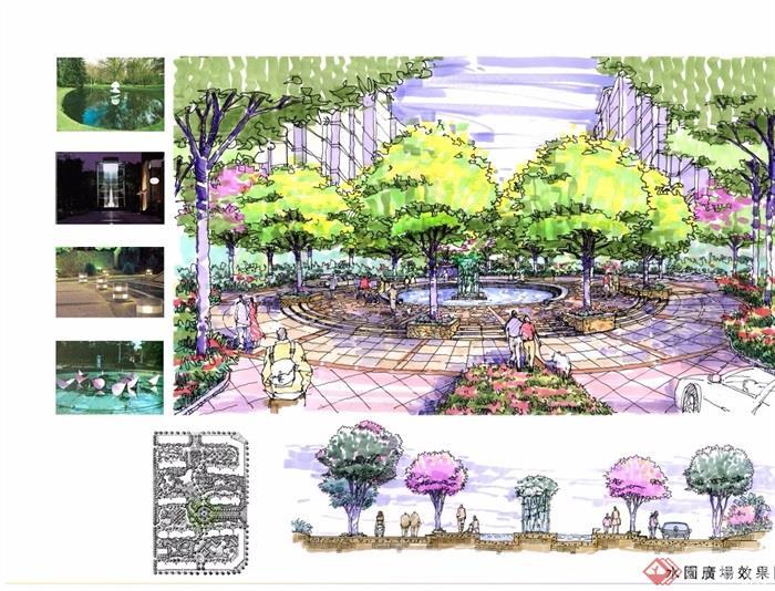 绿地国际花都三期天香苑住宅景观设计jpg方案[原创]图片