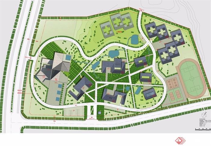 某现代风格详细的校园景观有什么可以免费领红包jpg方案[原创]