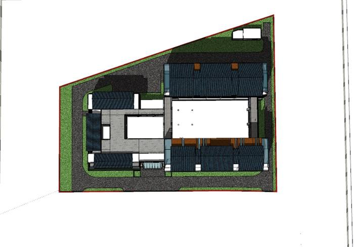敬老院设计方案 中标 现代中式模型(1)