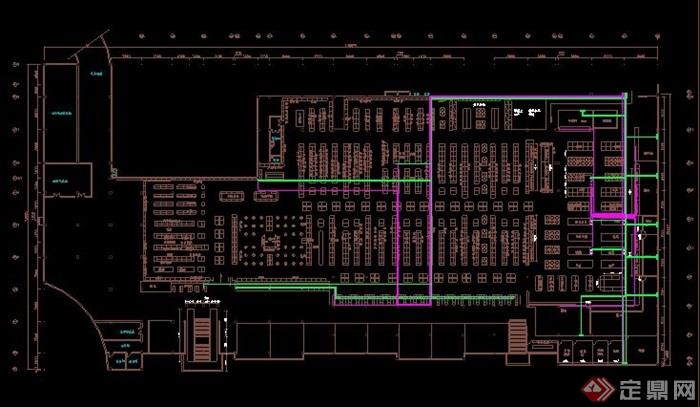 大型超市室内设计布局平面图[原创]图片
