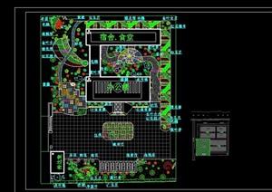 某现代化工厂绿化设计cad方案