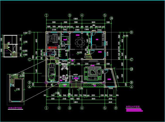 欧式别墅设计方案(含建筑施工图和su模型)