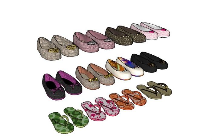 鞋子18套精選su模型(3)