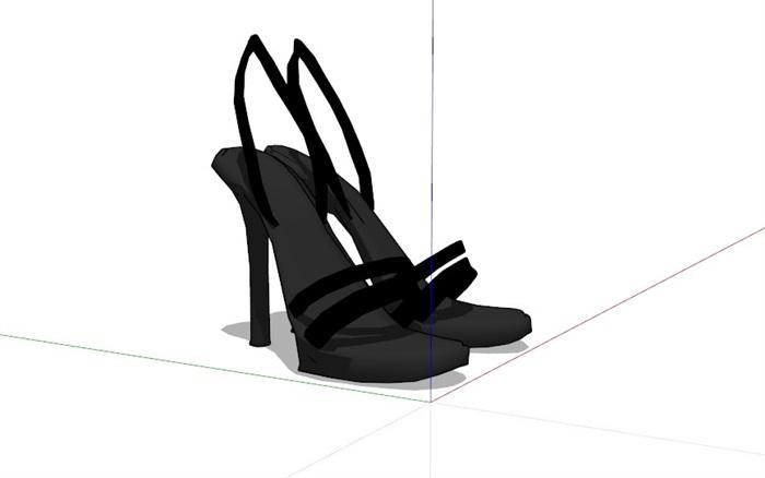 鞋子18套精選su模型(9)