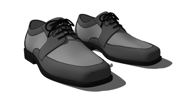 鞋子18套精選su模型(8)