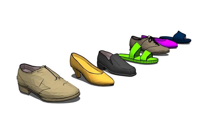 鞋子18套精選su模型(7)