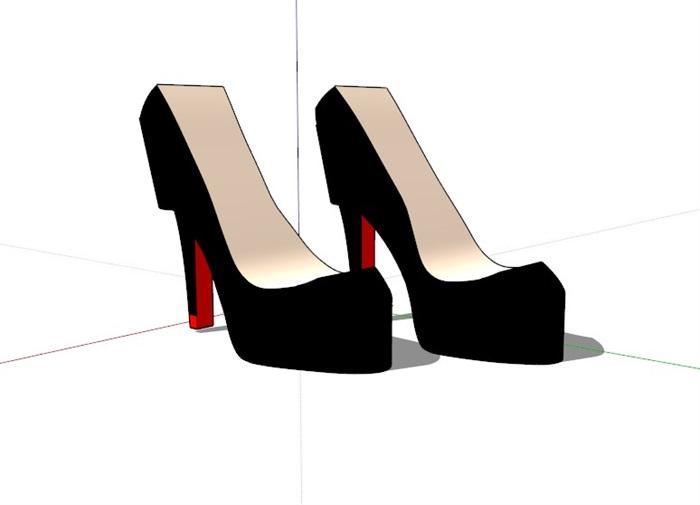 鞋子18套精選su模型(11)