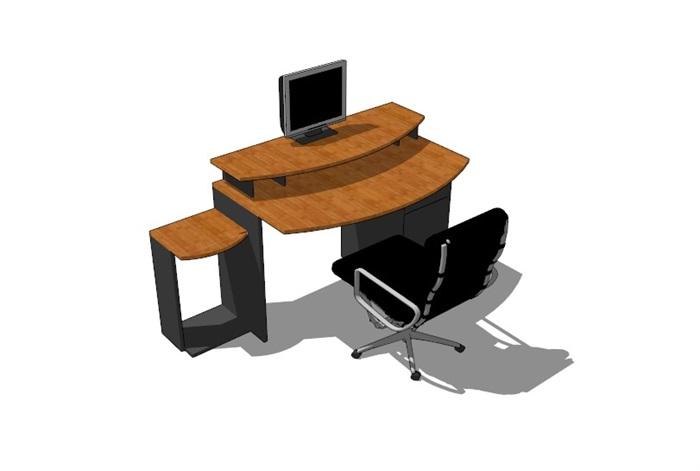 電腦桌23套精選su模型(2)
