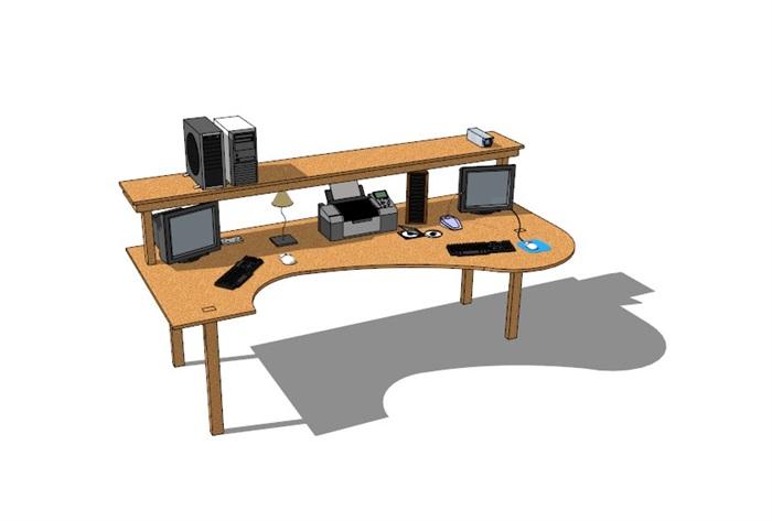 電腦桌23套精選su模型(1)