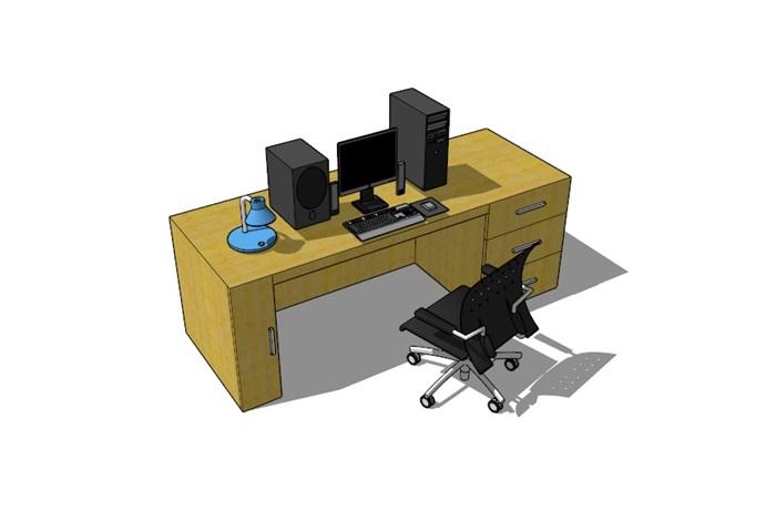 電腦桌23套精選su模型(4)