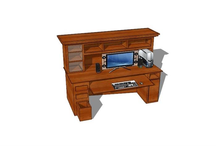 電腦桌23套精選su模型(5)