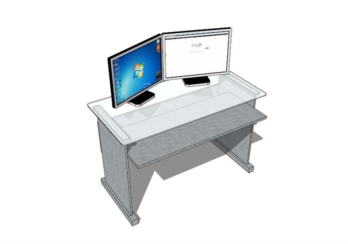 電腦桌23套精選su模型(3)