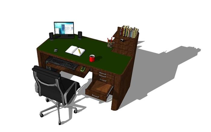 電腦桌23套精選su模型(7)