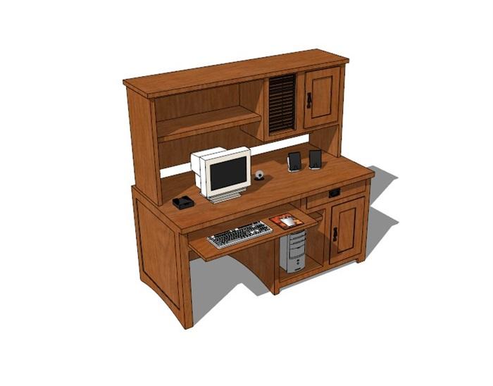 電腦桌23套精選su模型(6)