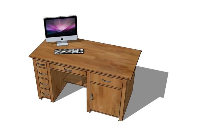 電腦桌23套精選su模型(8)