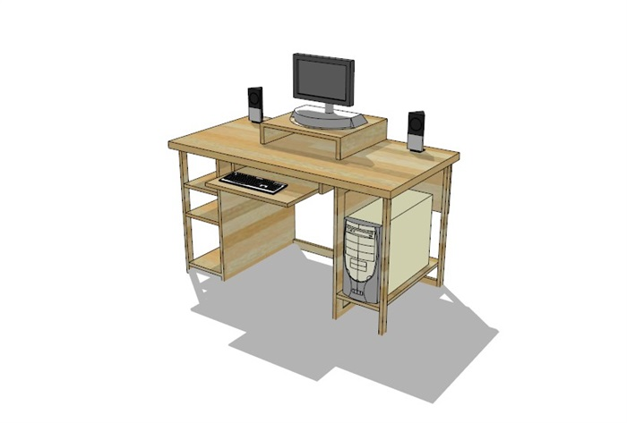 電腦桌23套精選su模型(11)
