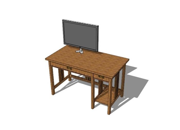 電腦桌23套精選su模型(10)
