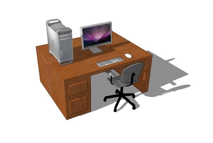電腦桌23套精選su模型(9)