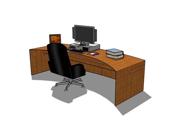 電腦桌23套精選su模型(12)