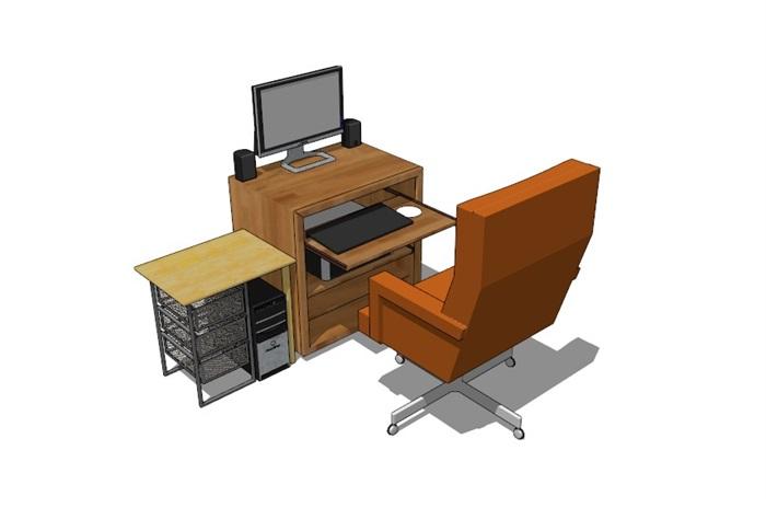電腦桌23套精選su模型(13)