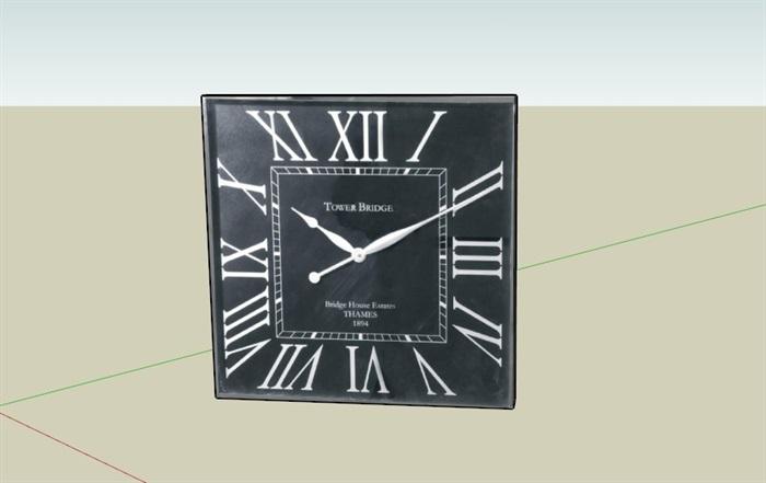 9款鐘表掛鐘素材su模型