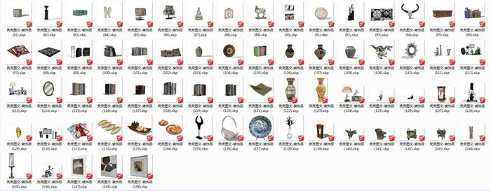 裝飾品149套精選su模型(2)