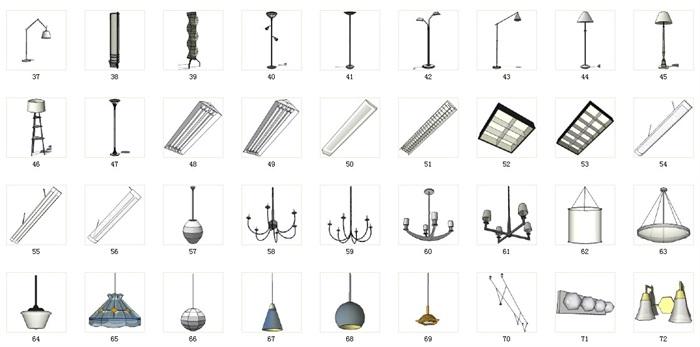 燈飾89套合集套合集精細su模型(2)