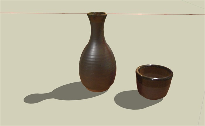 古花瓶25套合集精細su模型(4)