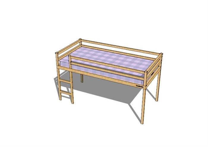 兒童床家具素材精細su模型
