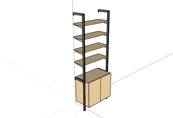 鞋柜6套合集精細su模型(2)