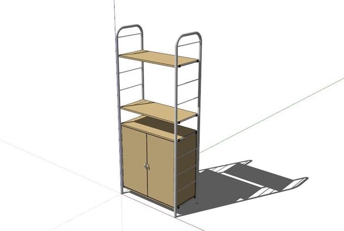 鞋柜6套合集精細su模型(3)
