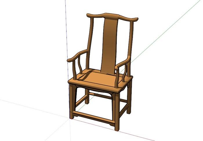 精美中式家具組合素材su模型