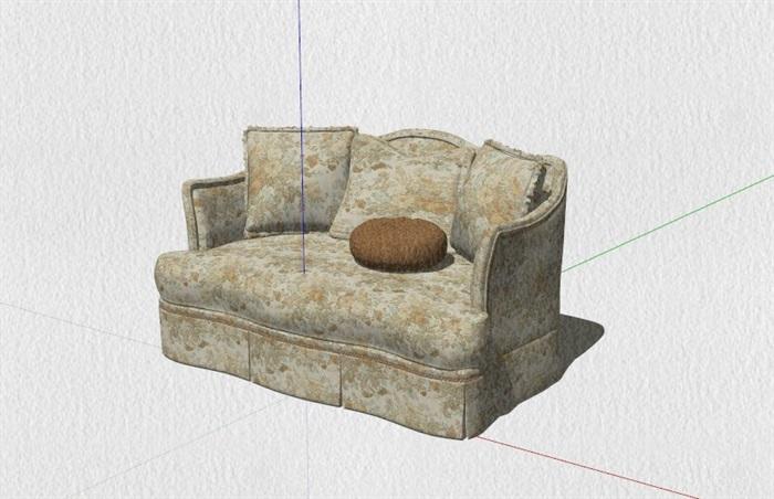 新式的中式家具23套合集精細su模型(5)