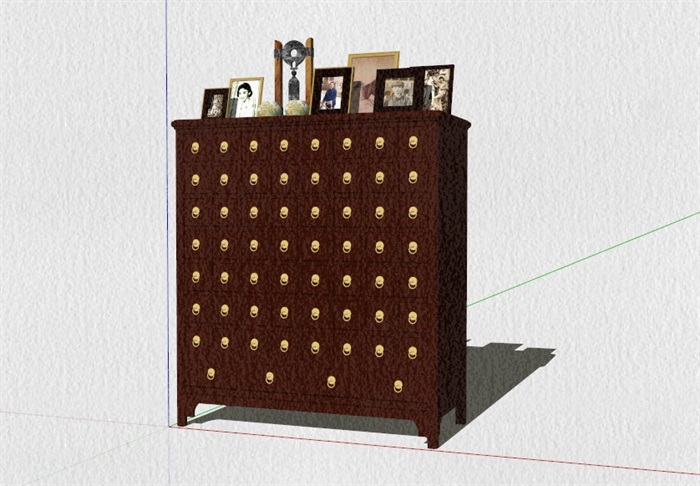 新式的中式家具23套合集精細su模型(13)