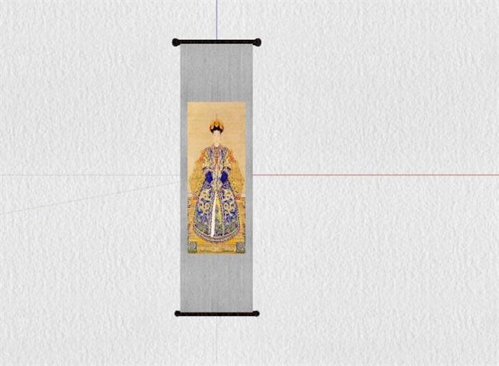 新式的中式家具23套合集精細su模型(15)