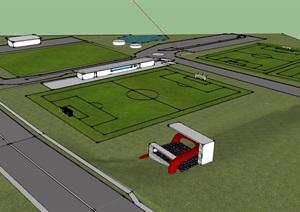 园林景观足球场设计SU(草图大师)模型