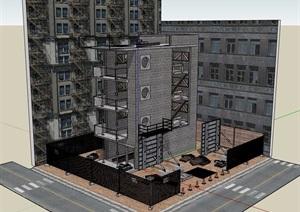 多层办公建筑SU(草图大师)模型