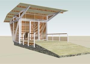 某屋顶构造素材设计SU(草图大师)模型