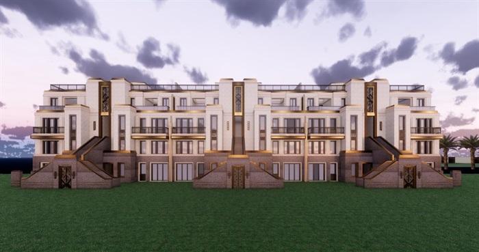 欧式风格售楼部及别墅建筑设计su模型[原创]