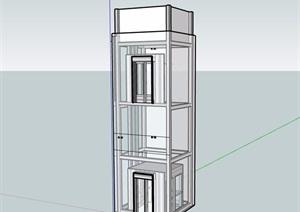 某電梯素材設計SU(草圖大師)模型