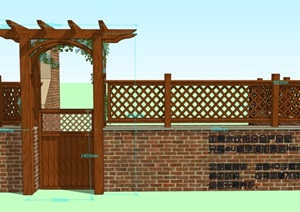 180930简约欧式弧形院门