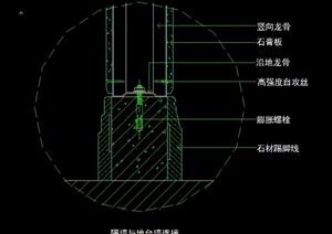 室內裝飾隔墻與輕隔間墻的CAD施作工法