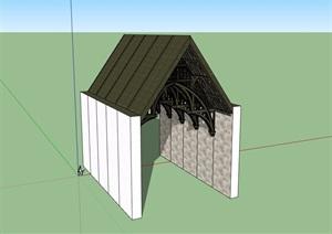欧式风格屋顶独特素材设计SU(草图大师)模型