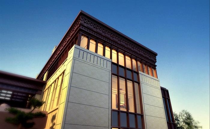 新亚洲风格建筑_某新亚洲风格风格豪宅居住区su全模型[原创]