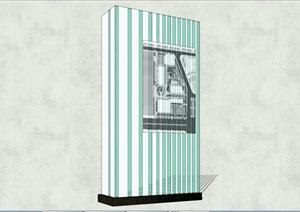 現代商業街商業LOGO標識引導牌SU(草圖大師)模型76