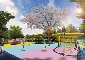 体育公园详细景观设计模型